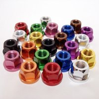 7075 Aluminum Axle Nuts for Track Bike(リア1 X 10)