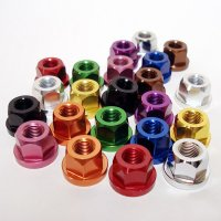 7075 Aluminum Axle Nuts for Track Bike(フロント1 X 9)
